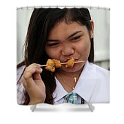After School Supper Shower Curtain