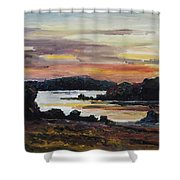 After Sunset At Lake Fleesensee Shower Curtain