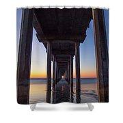 After Sunset At Scripps Pier Shower Curtain