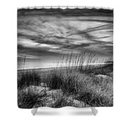 After Sunset In B And W Shower Curtain