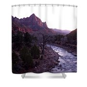 After Sunset The Light Glows Shower Curtain