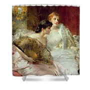 After The Ball Shower Curtain by Conrad Kiesel