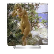 After The Bath, 1895 Shower Curtain