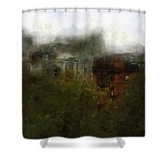 After The Blitz Shower Curtain