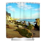 After The Fog Gaviota Shower Curtain