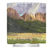 After The Monsoon Organ Mountains Shower Curtain