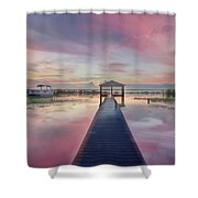 After The Rain Sunrise Painting Shower Curtain