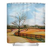 After The Ride By Karen E. Francis Shower Curtain