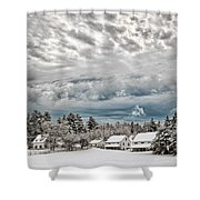 After The Snow Storm Shower Curtain