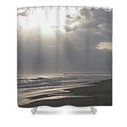After The Storm - Frisco Pier - Outer Banks Nc Shower Curtain