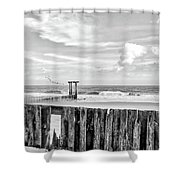 After The Storm Black And White Shower Curtain
