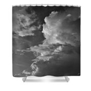 After The Storm In Black And White Shower Curtain
