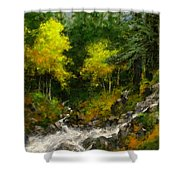 After The Storm September Shower Curtain