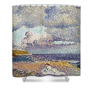 After The Storm The Bather Shower Curtain