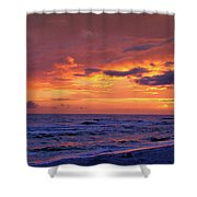 After The Sunset Shower Curtain by Sandy Keeton