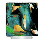 After The War Abstract Shower Curtain
