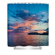 Afterglow On The Lakeshore Shower Curtain