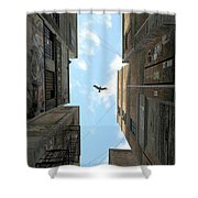 Afternoon Alley Shower Curtain