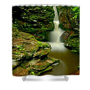 Afternoon At Adams Falls Shower Curtain