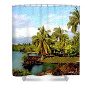 Afternoon At Mauna Lani Hawaii Shower Curtain
