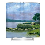 Afternoon At Pilgrim Shower Curtain
