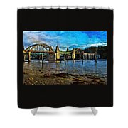Afternoon At Siuslaw River Bridge Shower Curtain