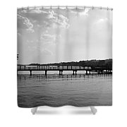 Afternoon At The Pier Shower Curtain
