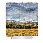 Afternoon Clouds Shower Curtain