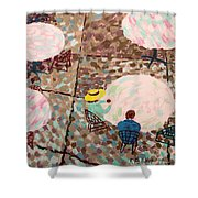 Afternoon Coffee In New York City Shower Curtain