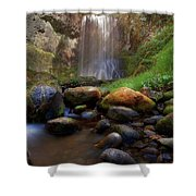 Afternoon Delight At Upper Bridal Veil Falls Shower Curtain