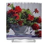 Afternoon Geraniums Shower Curtain