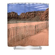 Afternoon In Snow Canyon Shower Curtain