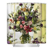 Afternoon Kissed Of Color Shower Curtain