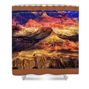 Afternoon Light At Mather Point, Grand Canyon Shower Curtain