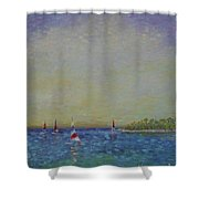 Afternoon Sailing Shower Curtain