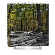Afternoon Shadows - Oconne State Park Shower Curtain