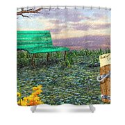 Afternoon Snooze Shower Curtain