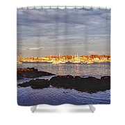 Afternoon Sun On Marblehead Neck Shower Curtain