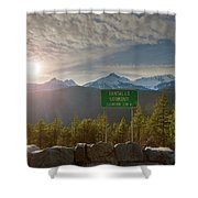 Afternoon Sun Over Tantalus Range From Lookout Shower Curtain