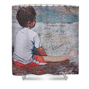 Afternoon Surf Shower Curtain by Kate Word