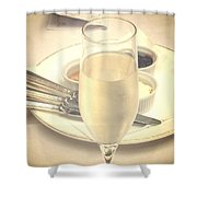Afternoon Tea With Champagne Shower Curtain