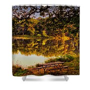 Afternoon View Argyle Lake Illinois Shower Curtain