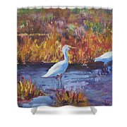 Afternoon Waders Shower Curtain