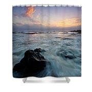 Against The Sea Shower Curtain