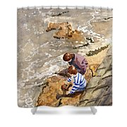 Against The Tide Shower Curtain