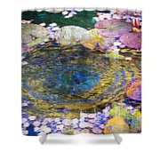 Agape Gardens Autumn Waterfeature II Shower Curtain