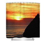 Agate Beach Oregon Shower Curtain