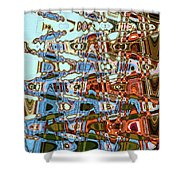 Agate Beach Tree Abstract Shower Curtain