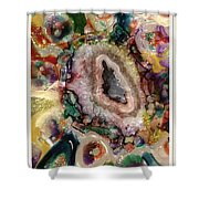 Agates And Glass  Shower Curtain