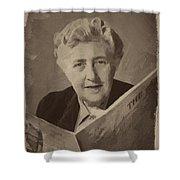 Agatha Christie 3 Shower Curtain